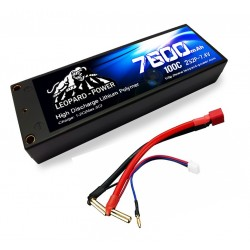 Leopard Power 7600mAh 100C 2S2P RC LiPo battery